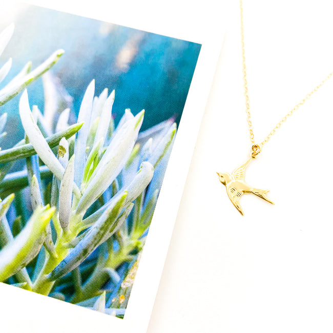 SPARROW NECKLACE | 14K GOLD-FILLED