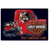 TIN SIGN - HARLEY DAVIDSON® DOGS UNDERSTAND