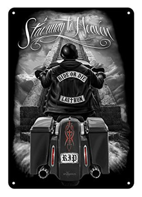 RIDE OR DIE - DAVID GONZALES ART® STAIRWAY TO HEAVEN TIN SIGN