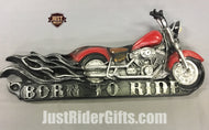 BORN TO RIDE RIDERS CREED PLAQUE