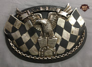 BORN TO RIDE EAGLE PLAQUE