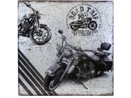 WALL ART - METAL MOTORCYCLE ROAD TRIP