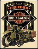 """FREEDOM"" HARLEY-DAVIDSON® MOTORCYCLES TIN SIGN"