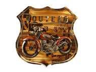 ROUTE 66 WALL ART -RED MOTORCYCLE
