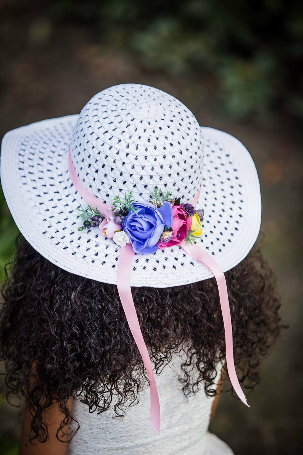 """A Time for Tea"" Floppy Floral Sunhat"