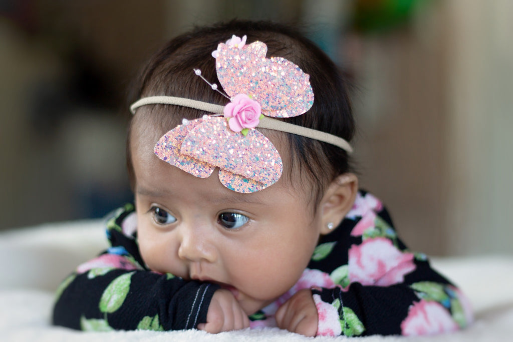 Chunky Glitter Butterfly Bow- Multiple Colors Available