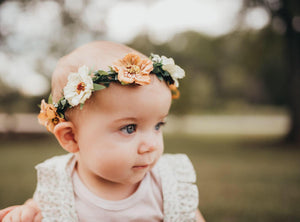 Fall Neutrals Collection- Neutral Toned Floral Halo Crown
