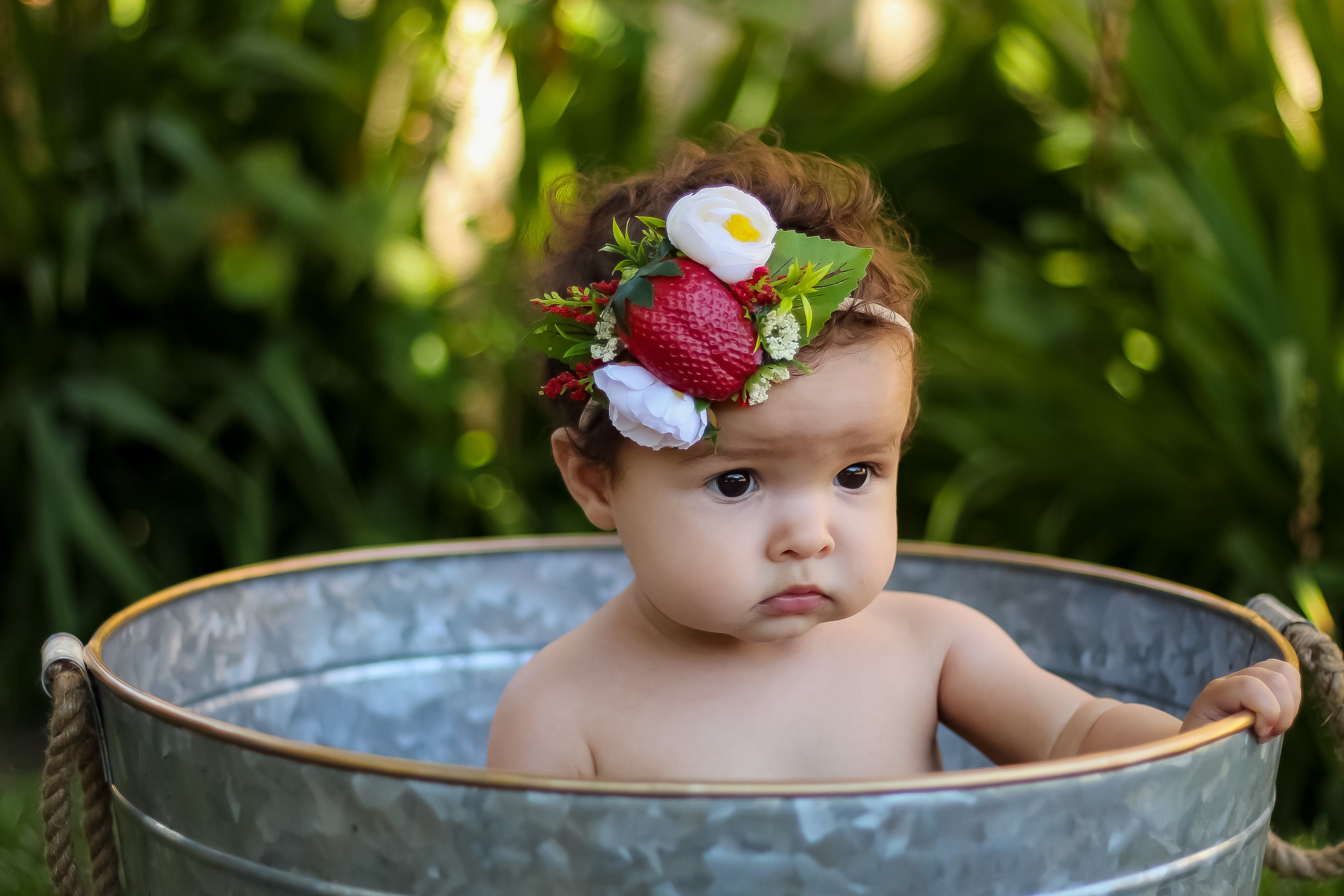 Strawberry Fields Floral Crown