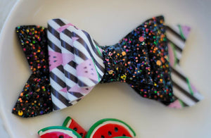 Watermelon Triple Stack Sparkle Gracie Bow