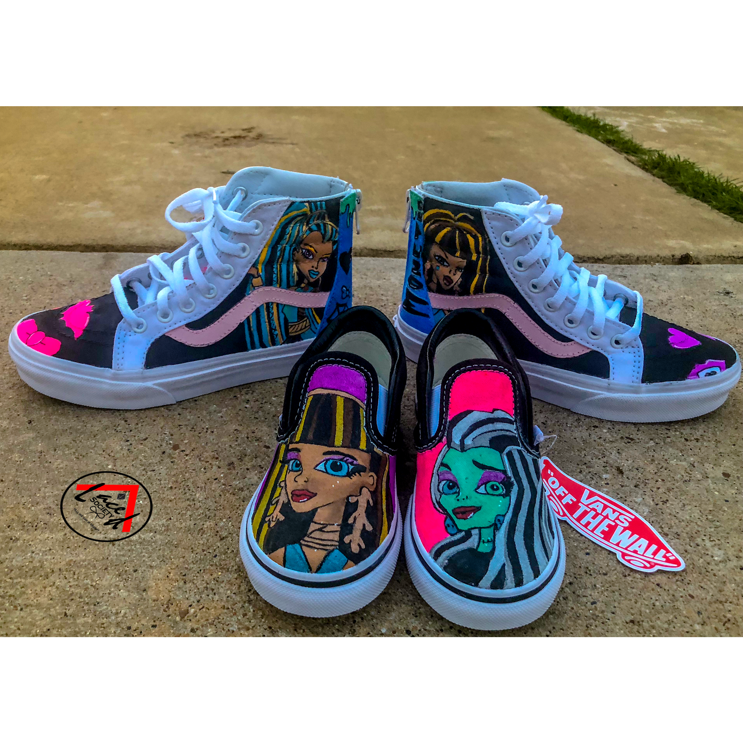 Custom Cartoon Vans -Monster High