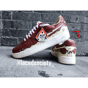 Custom Melt Air Force 1 - Laced Society