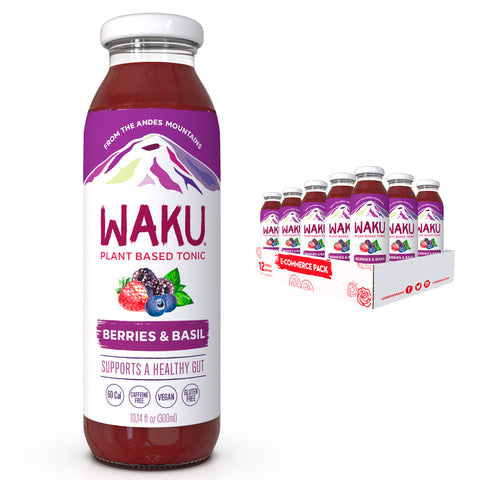 Berries & Basil - Pack of 12 bottles - Waku Inc