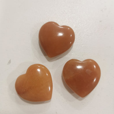 Orange Aventurine Hearts