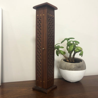 Wooden Incense Tower - Square Design-Your Home-Awaken Store