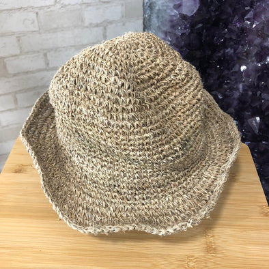 Hemp Hat - Natural Crochet Small Brim-Your Self-Awaken Store