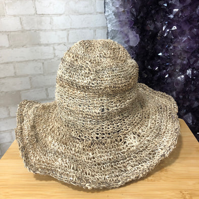 Hemp Hat - Natural Crochet Large Brim-Your Self-Awaken Store