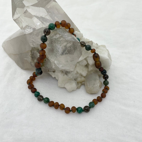 Amber Necklace - Earth