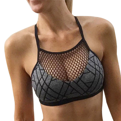Casual patchwork top, workout fitness bra, FAST & FREE SHIPPING TO USA 2-7 DAYS