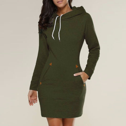 Vestidos Casual Straight Solid Dress, hoodies, streetwear, streetstyle, women`s fashion, alaganza.com