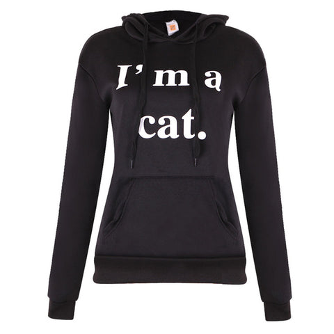 Polyester, Cotton Casual Hoody  Long sleeve Cat ear Sweatshirt   Autumn, Winter   Fits true size