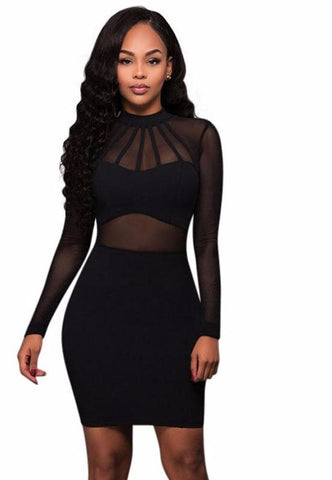 Sexy lace full sleeve bodycon dress,  club wear, party dress,