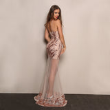 Sexy and elegant sequined lace dress,  evening dress, Party dress,  see size chart,
