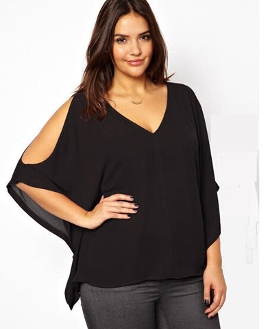 Trendy open sleeve blouse ,  curvy fashion, plus size,