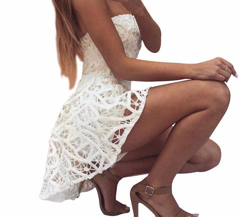 Fashionable  White lace off shoulder Playsuit, bottoms, jumpers, jumpsuit, fall fashion, summer sale,