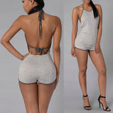 Casual backless bodysuit