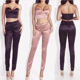 Casual strapless matching set,