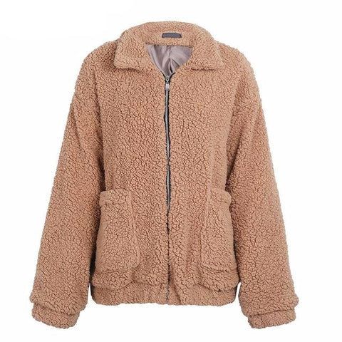Polyester, Chains, Mandarin Collar, Zipper,  Casual new style long wool coat,  fall fashion, autumn, winter,  fits true size