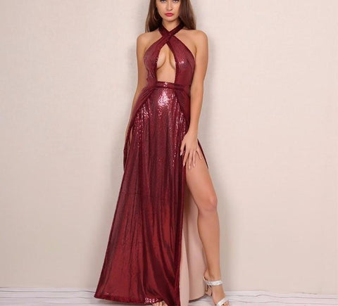 Sexy and elegant sequined maxi dress,  party dress, evening dress,  see size chart,