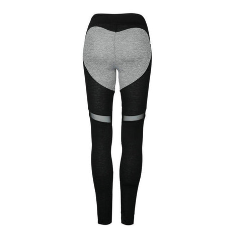 trendy heart pattern sport legging,  casual sportswear, active wear, alaganza.com