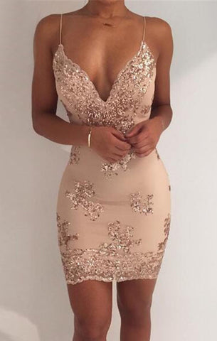 Gorgeous mini sequined dress,  evening dress, alaganza.com