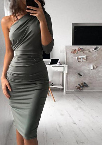 Luna one shoulder dress