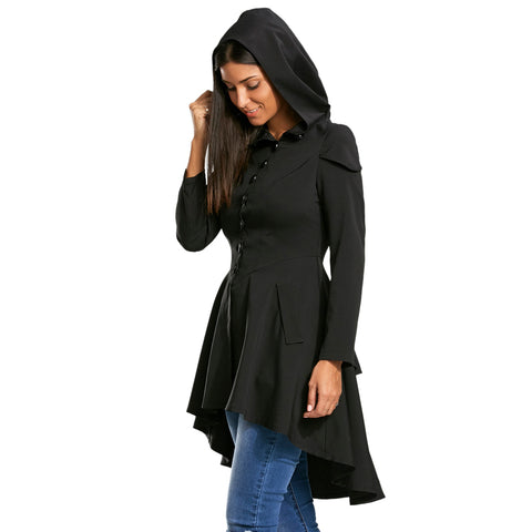 Casual asymmetric hooded jacket,  Fall fashion,  see size chart,