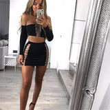 Sexy long sleeve bandage II set,  Club wear, party wear,