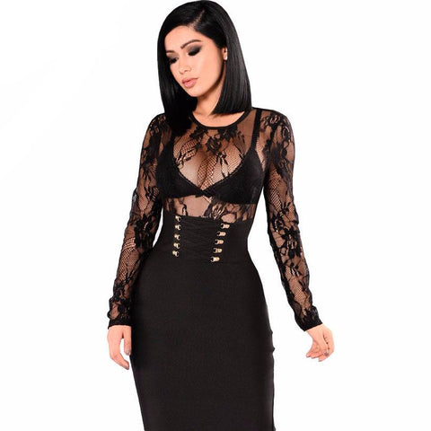 Sexy midi lace dress,  party dress, club wear,  see size chart,