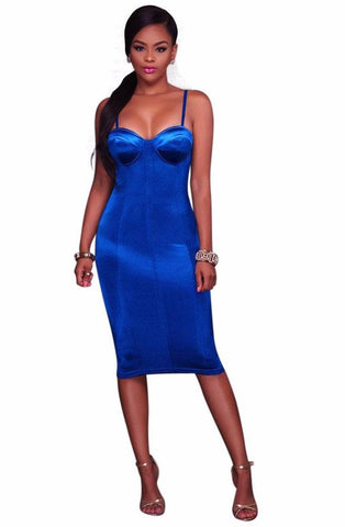Sexy midi spaghetti strap bodycon dress,  club wear, party dress,  see size chart,