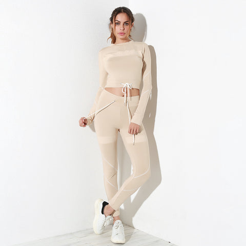Casual matching set,  cropped long sleeve sweater + full length pant  see size chart,
