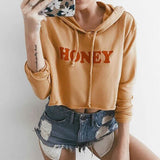 Casual letter printed hooded sweater