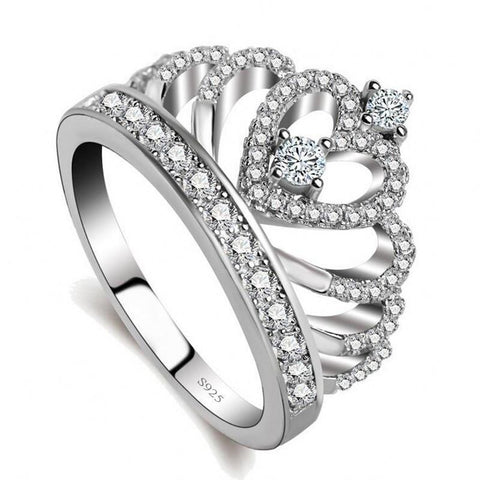 Zirconia diamond crown ring