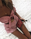 Sexy and casual mini plaid jumpsuit, plaid ruffle jumpsuit, women1s fashion 2018
