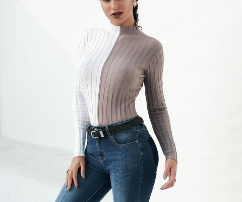 Casual knitted turtleneck sweater.   fall fashion