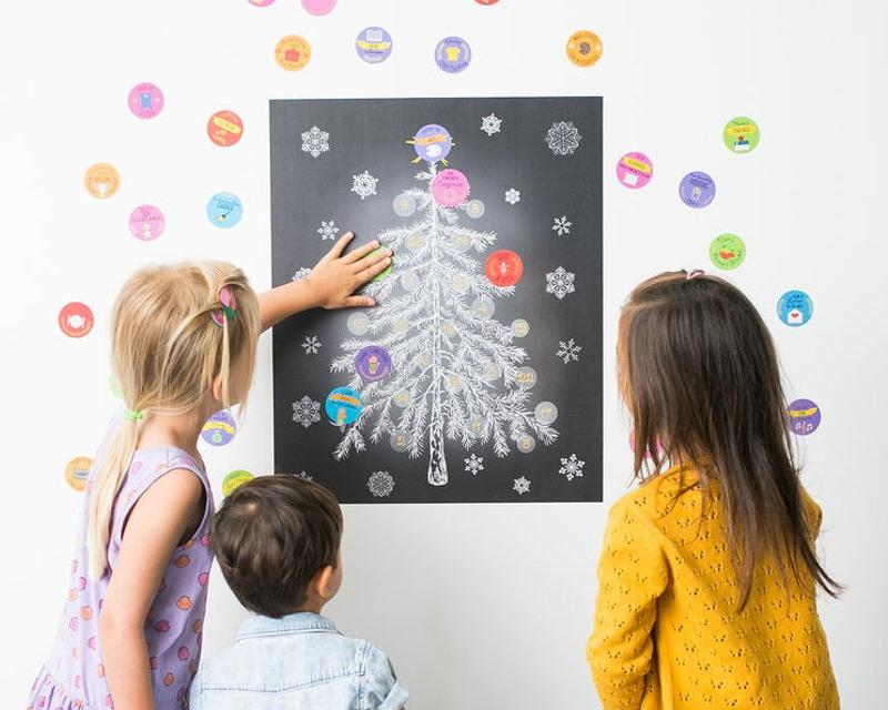 My Kindness Advent Calendar: Christmas Advent calendar for kids that teaches kids about giving back and kindness. Kindness calendar. Reusable Christmas tree Advent calendar made from premium-quality wall decals.