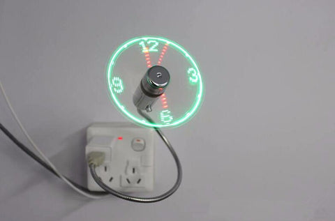 LED USB Clock Fan