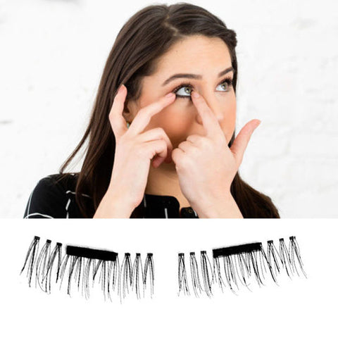 Magic Magnetic False Eyelashes (No Glue Required)
