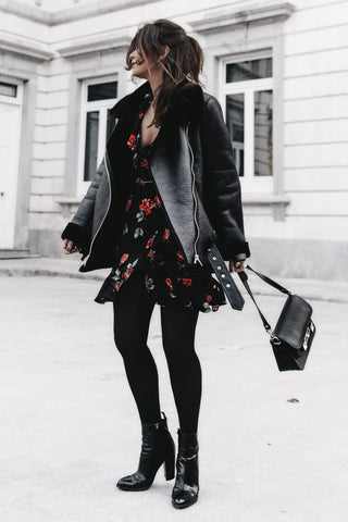 how to style dresses in winter