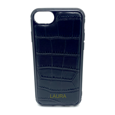 iPhone 6/6S Phone Case - Obsidian Crocodile Black