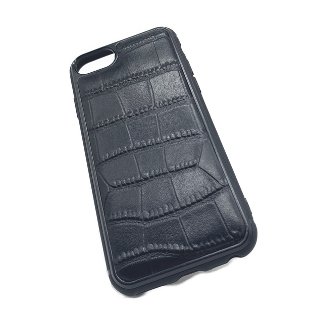 iPhone 7 Phone Case - Obisidian Crocodile Black